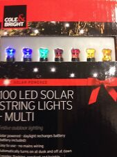 Christmas 100 Solar LED String Lights Triple Function Flicker & Flash !!