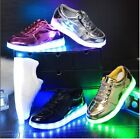 CHILDRENS KIDS LED LIGHT TRAINERS BOYS UP LACE GIRLS LUMINOUS INFANTS SHOE SIZE
