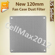 120mm Computer PC Dustproof Cooler Fan Case Cover Dust Filter Mesh with 4 screws