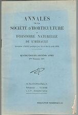 SOCIÉTÉ D'HORTICULTURE de l'Hérault Fourches SAUVE JARDIN des PLANTES TOGO 1957