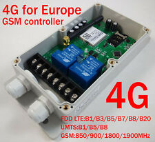 4G GSM Remote Control Relay - 2 x 30 Amp Relays - DC Powered - Europe Only
