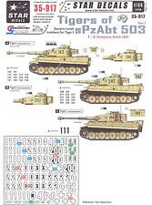 Star Decals 1/35 GERMAN TIGER TANKS OF sPxAbt 503 Generic Turret Numbers Part 2