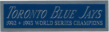 TORONTO BLUE JAYS WORLD SERIES NAMEPLATE AUTOGRAPHED Signed JERSEY-BASEBALL-BAT