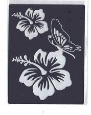 Acero Inoxidable// Metal/plantilla/Oblongo/Recargado/flor/Floral/lirio/Mariposa/Relieve