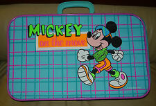 MICKEY MOUSE ON THE MOVE SUITCASE  CHILD'S  WALT DISNEY COMPANY C. LATE 1980'S