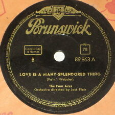 78rpm/82863/THE FOUR ACES/SHINE ON HARVEST MOON/LOVE IS A MANY SPLENDORED THING