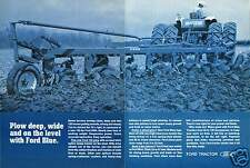 1970 Ford 9000 Tractor & 132 Plow 2 Page Print Ad