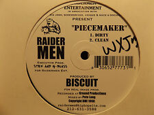 "RAIDERMEN - CARNIVORE / PIECEMAKER (12"")  1998!!!  RARE!!!  PETE LONG + BISCUIT"