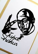 "Tupac shakur original pop art, 4""X 6"" pouces 2pac vinyle autocollant portrait."