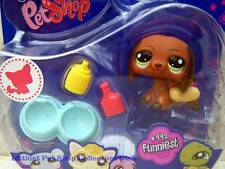 Littlest Pet Shop Hasbro Collectible Pets Brown DACHSHUND lot #992 Retired NIB