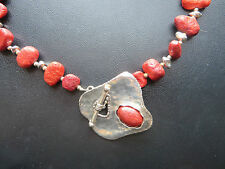 SILPADA - N0900 - Red Sponge Coral Necklace - VERY RARE!!!