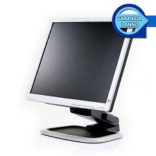 """MONITOR SCHERMO RICONDIZIONATO LCD TFT 17"""" POLLICI PC COMPUTER DESKTOP FISSO"""