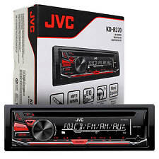 New JVC KDR-370 Single Din In Dash Car Stereo CD MP3 AUX Player Radio Receiver