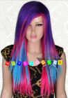 Hot Sell! New Fashion Long Multi Colour Cosplay Straight Wig Wigs + Free Wig Cap