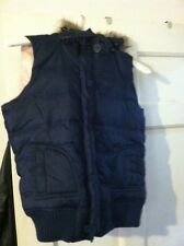 Urban Behavior Puffer Vest With Removable Faux Fur Hood