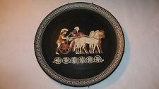 Vintage Achilles Plate Made in Greece Hand Painted Chariot