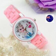 Girl Kid Child Pink Frozen Elsa Wrist Watch Birthday Christmas Gift for her