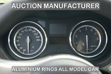 CHROME SPEEDO GAUGE DIAL TRIM RINGS ALUMINIUM SURROUNDS  ALFA ROMEO 159