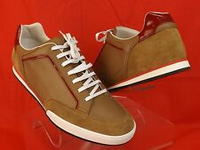 NIB GUCCI TENNIS 83 CAMEL SOFTY TEK SUEDE LEATHER LOGO SNEAKERS 11 12  338786