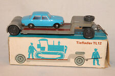 HO 1:87 scale Espewe Tieflader Trailer with Wartburg Sedan, Nice Boxed