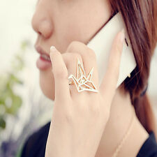 Korean New Brand Origami Gold Plated Ring,Nice Bird Finger Ring Size 6