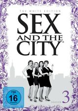 SEX AND THE CITY S3 WHITE EDITION (SARAH JESSICA PARKER,...) 3 DVD NEU
