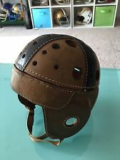 Vintage Leather Football Helmet Lowe & Campbell Athletic Goods Great Condition!