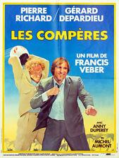 Affiche 40x60cm LES COMPÈRES (1983) Pierre Richard, Gérard Depardieu NEUVE