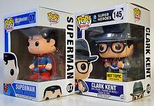 FUNKO POP Superman & Clark Kent Hot Topic Exclusive Pop! DC HEROES Vinyl Figures