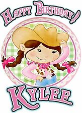 Cowgirl Birthday Party t Shirt Iron On Transfer Personalized Decal Patch