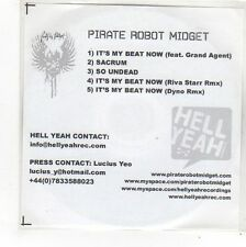 (FN967) Pirate Robot Midget, It's My Beat Now - DJ CD