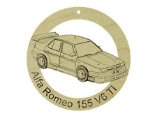 Alfa Romeo 155 V6 TI Natural Hardwood Ornament Sanded Finish Laser Engraved