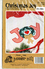 From the Powder Mill 'Christmas Joy' Applique Pattern for Purchased Sweatshirt