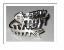 Scuba Jewelry,Sterling Silver Fish Skeleton Ring SZ 8, 9, 10