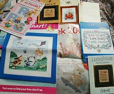 9x Cross Stitch Charts. Including Lizzie Kate, Boofle and Stitchlets.