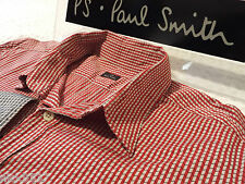"PAUL SMITH Mens Shirt �� Size L (CHEST 40"") �� RRP £95+ �� 3D STYLE CUBE/SQUARES"