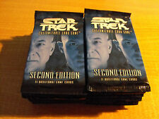 STAR TREK CCG 2E SECOND EDITION, LOT OF 30 SEALED PACKS