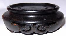 Antique Japanese Hard Wood Stand Display Base Signed 2 1/8 inch