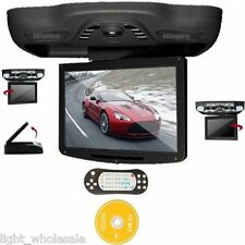 "Black12.1"" HD Flip Down Overhead Roof Car Monitor FM TV USB/SD Games DVD Player"