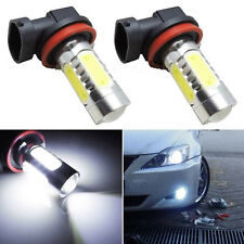 2pcs Xenon White H11 High Power COB LED Projector Bulb For Car Driving Fog Light