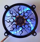 Custom 120mm FLAME Computer Fan Grill Gloss Black Acrylic Cooling Cover Mod