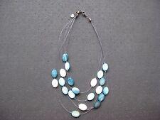 collier pour femme bleu