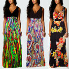 New Sexy Women Summer BOHO Party Cocktail Evening Maxi Long Dress Plus Size 8-18