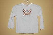 white shirt with siamese cats Gymboree NWT Kitty Glamour size 3 kid girl