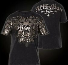 "AFFLICTION Men's SMALL ""Fedor Emelianenko"" NEW FOIL SKULL T shirt NEW S Tee"