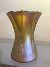 LCT Tiffany Gold Favrile Art Glass Vase 1110-6242K