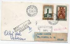 1962 VATICANO AEROGRAMMA ROMA/MILANO 3/4 D/4788
