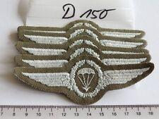 Bundeswehr Fallschirmspringer Abzeichen silbern auf oliv 5 Stück (d150-) je1,80