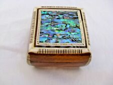 "Egyptian Inlaid Mother of Pearl Paua Jewelry Box 3x3"" Exceptional # 408"