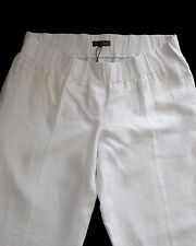 New Womens White Linen NEXT Maternity Trousers Size 8 Long RRP £32